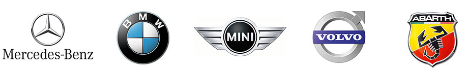 I nostri marchi: BMW, Mercedes-Benz, Abarth, Mini, Jeep, Volvo